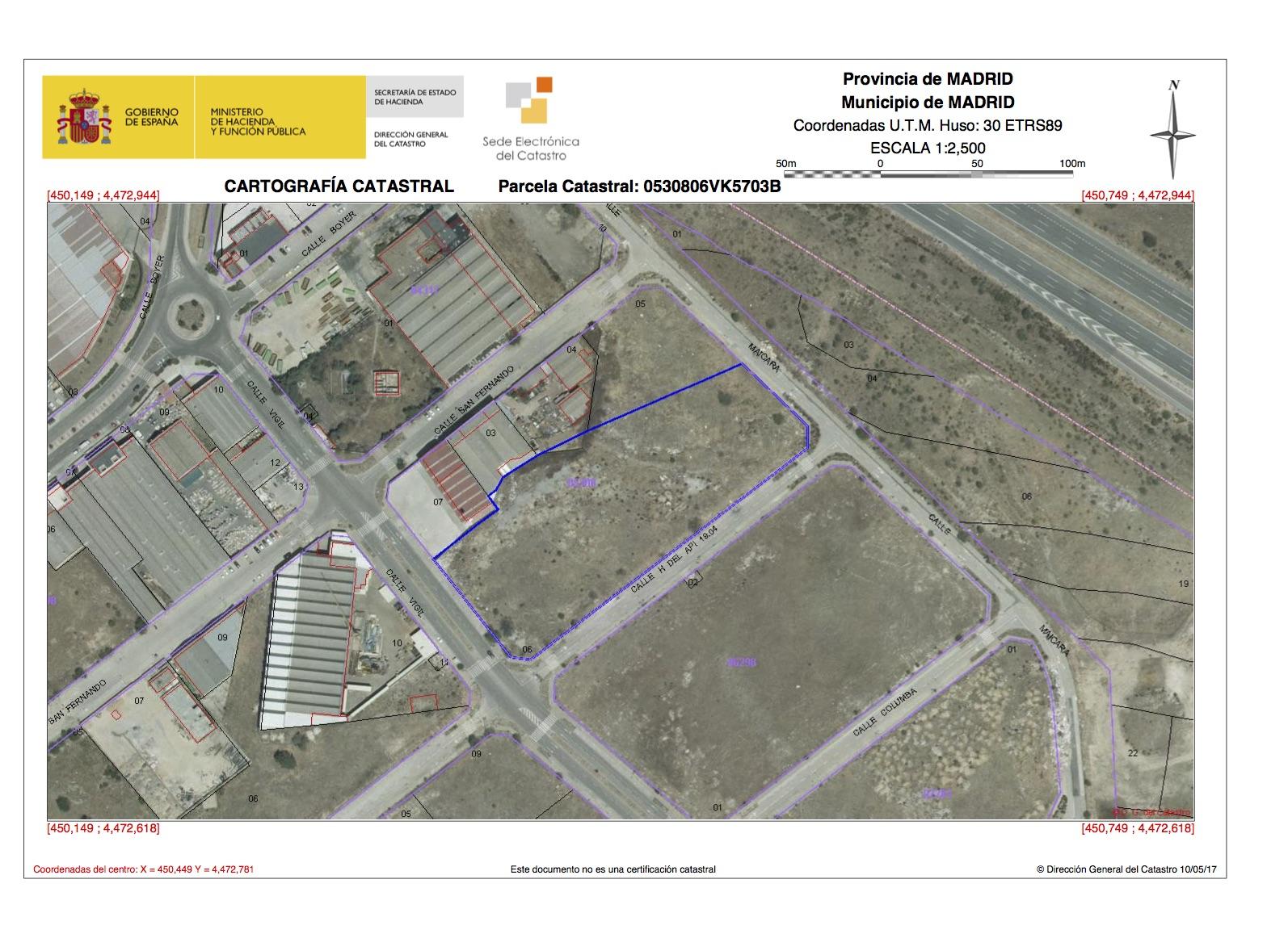Polígono Industrial de Vicálvaro. Parcela M26-6